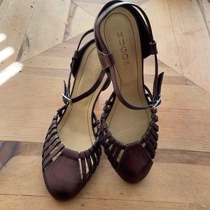 Hugo Boss sandal pumps made in Italy size 40